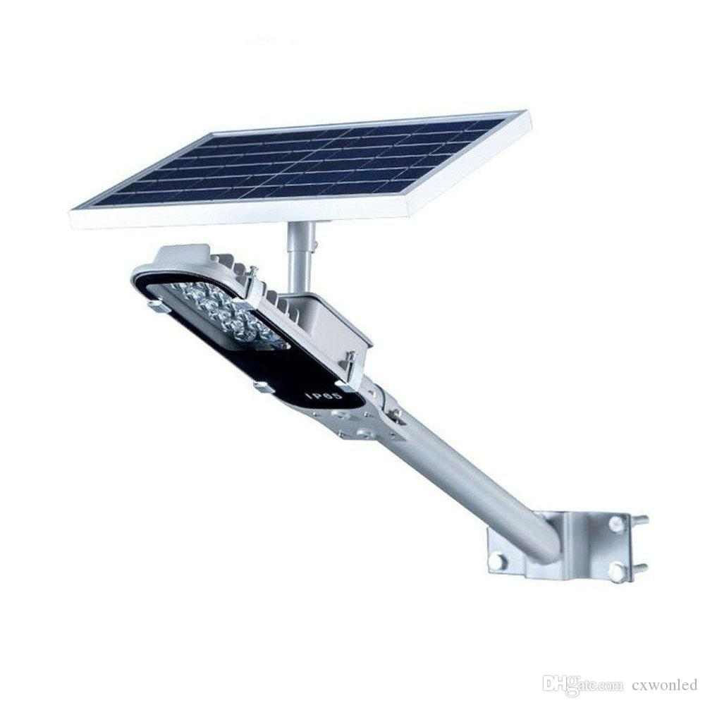 LED Entegre Güneş Sokak Işık, Sokak Oluk Patio Bahçe Yolu için IP65 su geçirmez Güneş Kutup ışığı 800lm Güvenlik Gece Aydınlatma