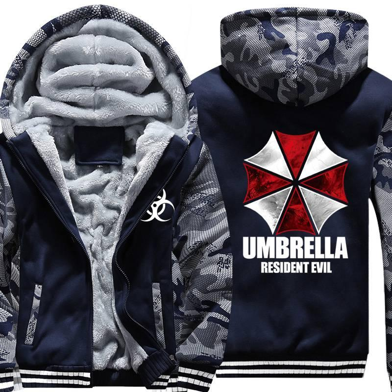 Men/'s Resident Evil Hoodie Jacket Umbrella Corporation Coat Jumper Sweatshirt
