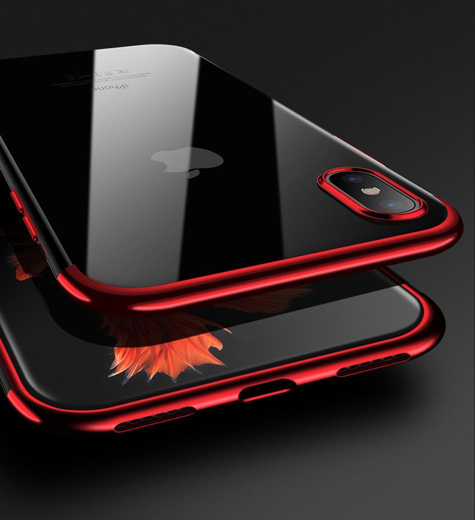 إلى Samsung S9 S8 Plus Note 8 Soft Bright Bling شفاف غطاء خلفي للهاتف لآيفون IPhone X 8 7 6 6S بالإضافة إلى غطاء هاتف Shell Capa