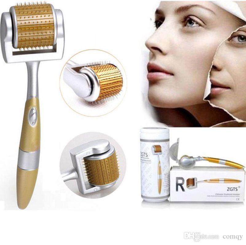 10pcs ZGTS lega di titanio Derma Roller 192 aghi apparecchiature La terapia medica microaghi dermaroller meso rullo di bellezza del CE