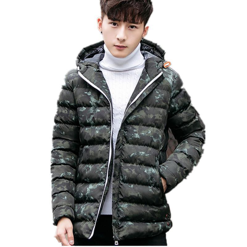 Winter Jacket Men Warm Down Jacket Casual Parka Men padded Winter Casual Slim Hooded Coat