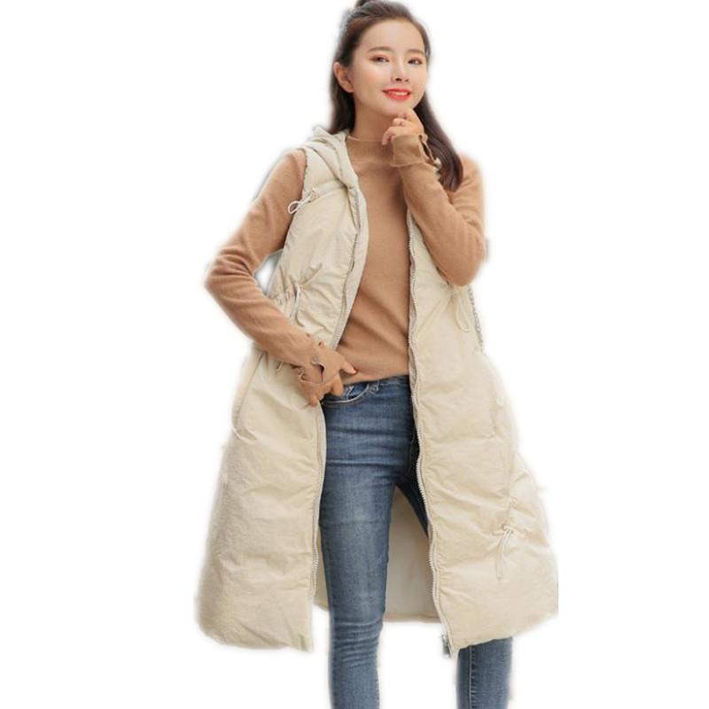 Frauen Westen Frauen Winter Weste 2021 Design Down Baumwolle A-Line Weste Weibliche Kapuze Lose Verdickung Warme hohe Qualität Q928