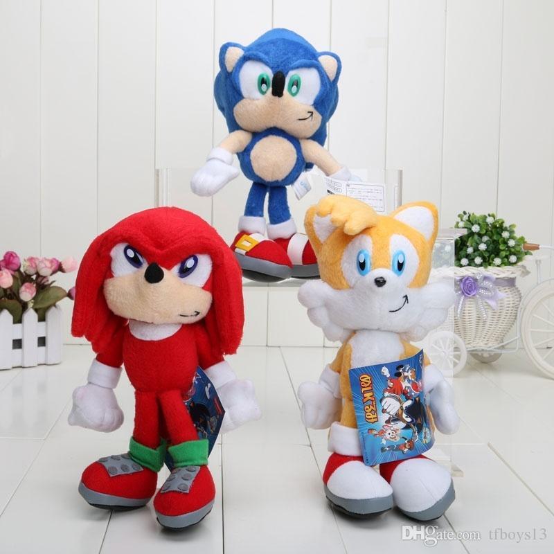 Nice Nice 8'' 20cm Sonic The Hedgehog Plush toy Hedgehog stuffed Plush Dolls Toys Christmas Gift T617 HOT