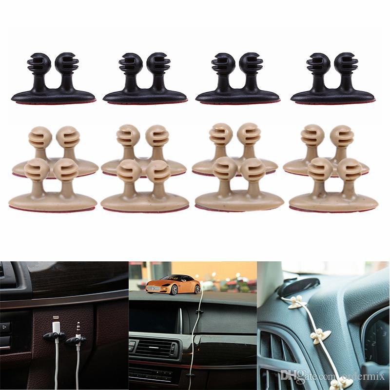 8Pcs Car Wire Clip USB Cable Fixed Clamp Charging Cable Holder Adhesive Car Charger Line Clasp USB Cable Car Clip