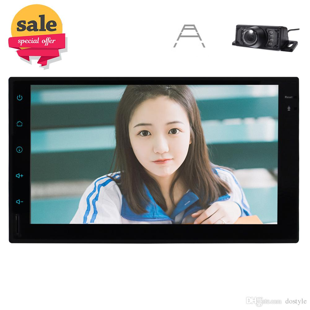 Android7.1 Double Din In Dash Car GPS Sat Navigation 7''Touchscreen Head Unit MP3 Radio AM/FM Player Car Stereo Steering Wheel Control