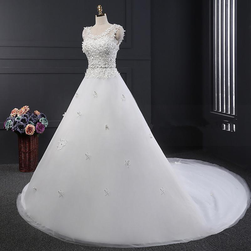 Gelin Vintage Lüks Bir Çizgi Gelinlik 2018 Gelin Weding Elbise Ülke Batı Tül Çin Kristal Gelinlikler