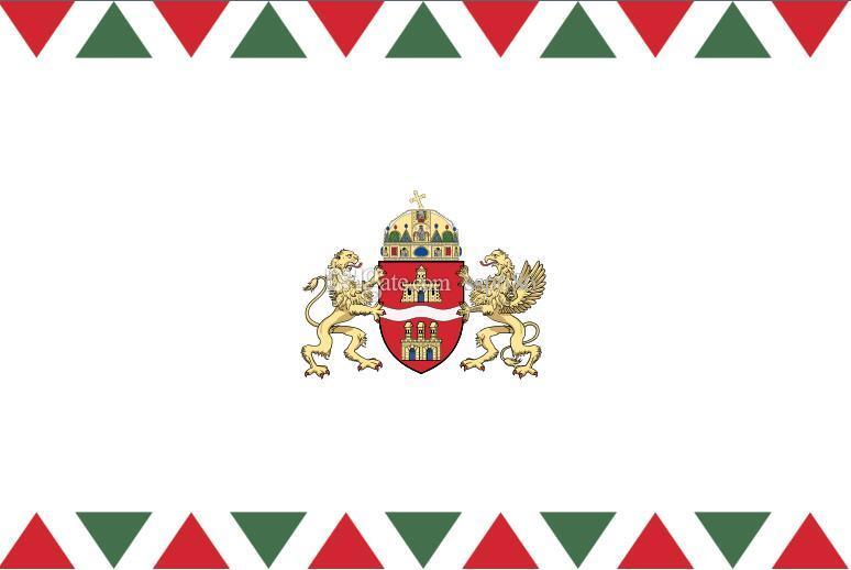 Węgry Flaga Budapeszt (2011-) 3ft x 5ft poliester banner latający 150 * 90 cm niestandardowa flaga na zewnątrz