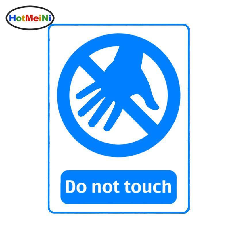 Toptan Araba Styling Uyarı Işareti Dokunmayın Araba Sticker Vinil Dekorasyon