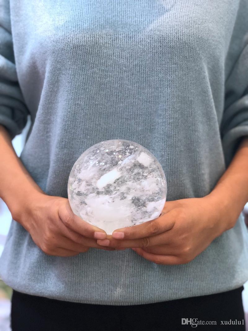 Подарок Хэллоуина, 1 кг+ хрустальный шар из натурального белого кварцевого плавильного камня