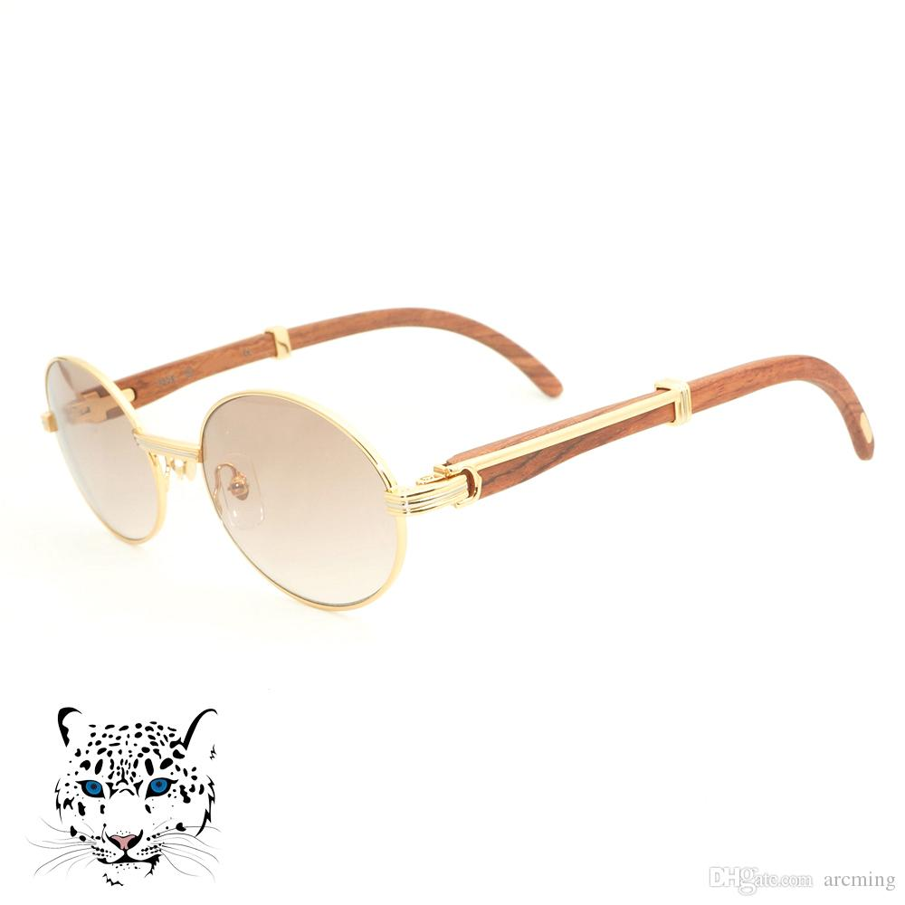 Lüks Carter Güneş Erkekler Yuvarlak Oval Güneş Gözlükleri Yaz Kulübü ve Parti için Retro Güneş Gözlüğü Erkekler için Yüksek Kaliteli ...