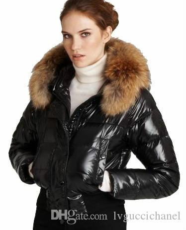 France marque Femmes courtes Hiver Chaud Down Down Jacket Femmes Slim Femme Bas Épaissir Fourrure Parka Down Coat Vêtements Parka