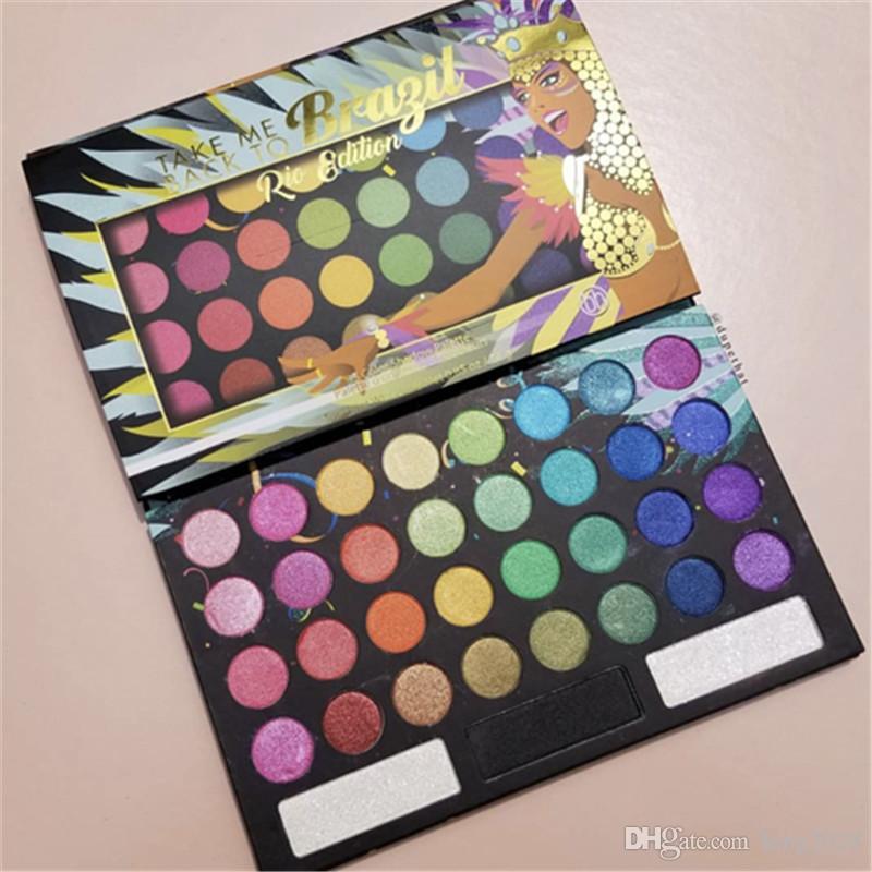 Beauty Eye shadow Take Me Back to Braizl Rio Shimmer Matte Eyeshadow Palette 35colors Makeup DHL shipping.