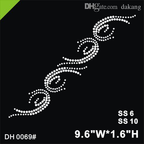 Free shipping Newest design hotfix rhinestone for skirt edge Heat transfer motif rhinestone Embellishment garment accessories DIY DH0069#