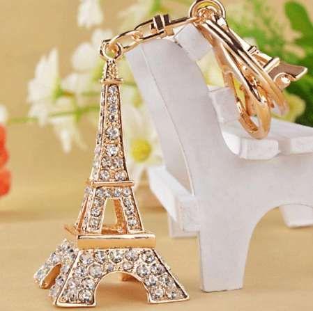 برج ايفل كيشاين للمفاتيح التذكارية ، باريس تور ايفل حجر الراين مفتاح سلسلة مفتاح الطوق حامل مفتاح الديكور
