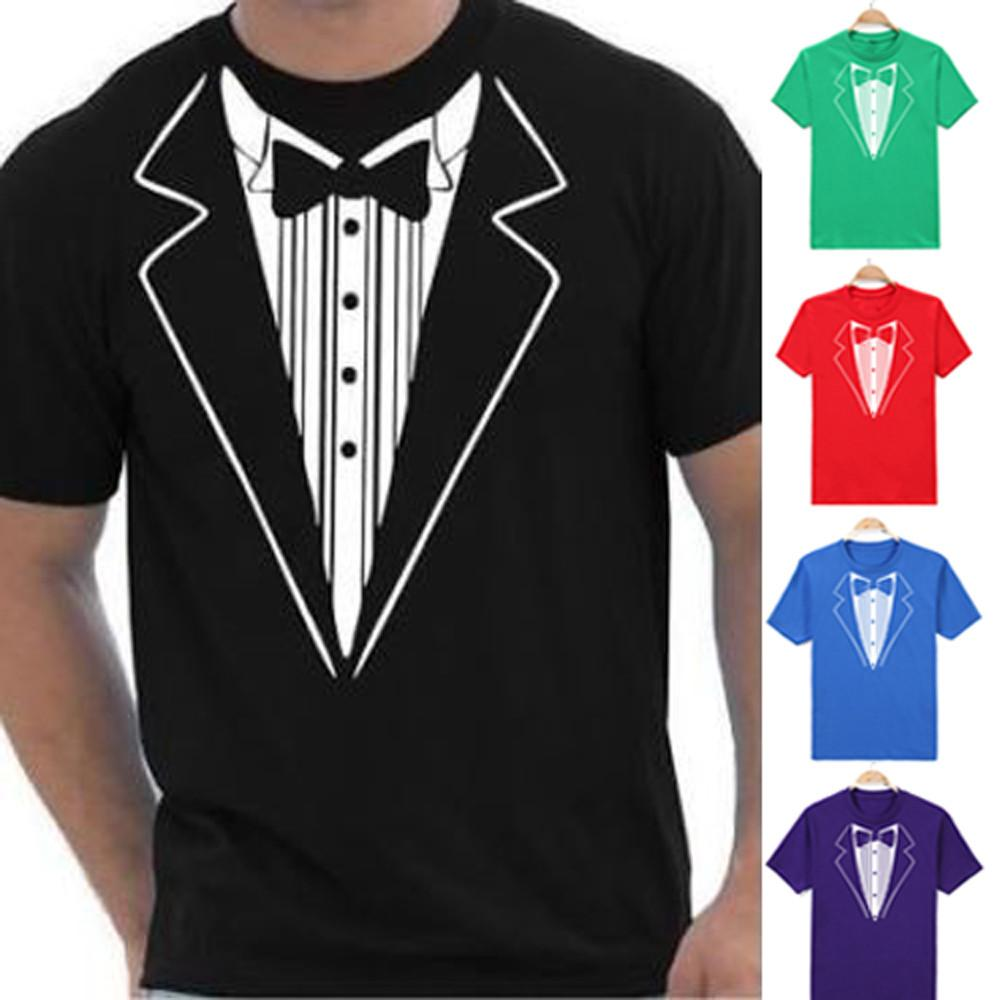New Hot Fashion Mens Print Coon Short Sleeve Tuxedo Fancy Funny T-Shirt Plus Blouse Top For Male Drop Shipping