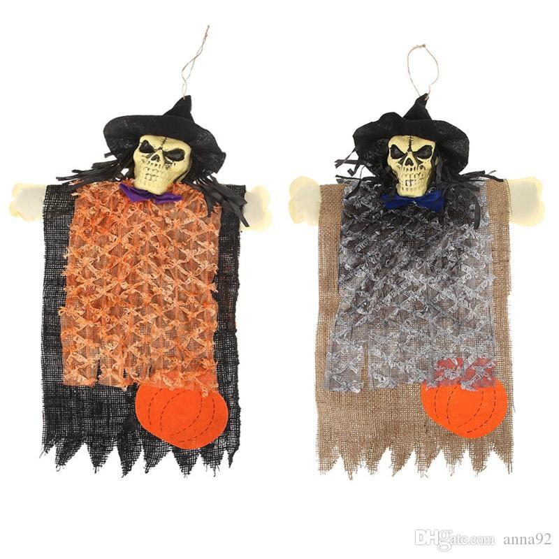 Halloween Ghost Skull Hanging Ornament Non-Woven Festival Decor Hanging Halloween Holiday Festive Party Supplies free shipping hot sale 2018
