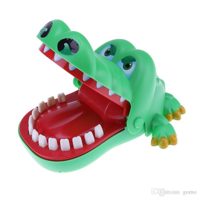 15 سنتيمتر لطيف التمساح الفم دغة فنجر لعبة مضحكة لعبة كبيرة للأطفال أطفال التمساح طبيب الأسنان دغة الطفل الكرتون الحيوان لعبة