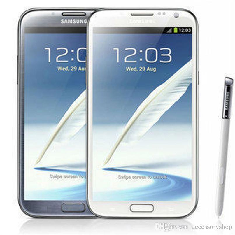 Original Samsung Galaxy Note 2 Refurbished Note2 N7100 N7105 5.5 inch Quad Core 16GB ROM Unlocked 3G 4G LTE Cheap Mobile Phone DHL 5pcs