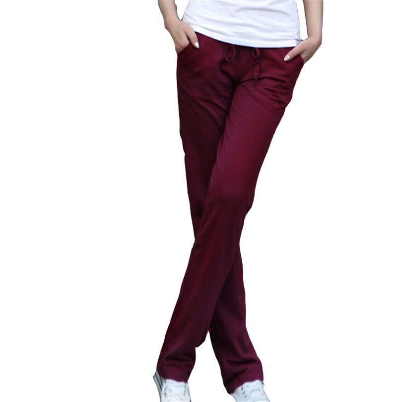 New Arrived Solid Trousers Autumn Drawstring Full Length Women Pant Loose Pants Ladies Dance Elastic Harem Pants Plus Size L011