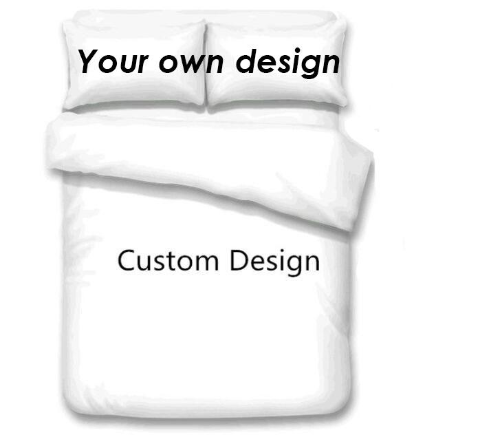 Customized Design Bedding Sets 3D Digital Printing Custom Bedding Set 3pcs Duvet Cover with Pillowcase Full Queen King Size