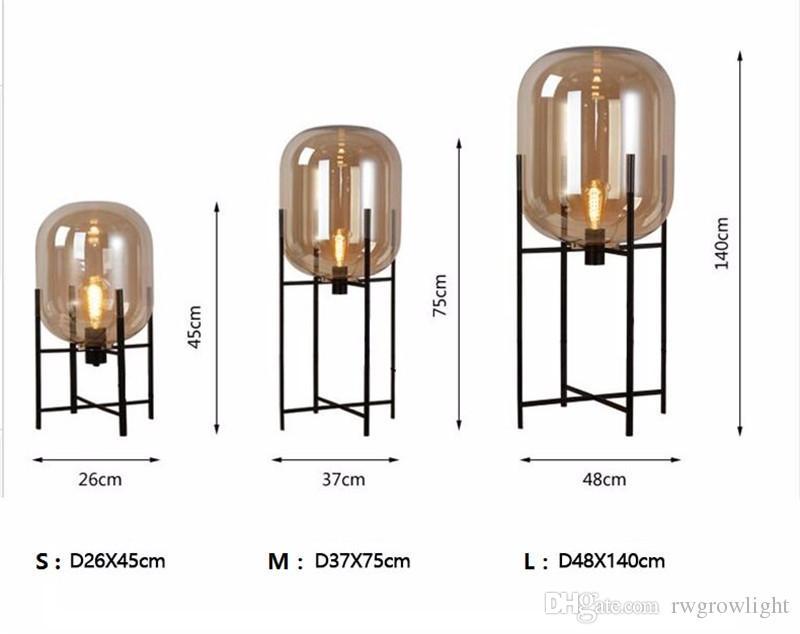 Nordic pós-moderna lâmpada de assoalho de vidro sala de estar quarto minimalista retro estudo lâmpada de mesa drop shipping