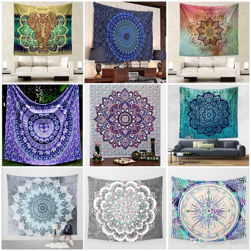 Moda elefante impressão tapeçaria tapeçaria tapeçaria de yoga bohemia estilo toalha de praia toalha de mesa para decoração de casa 17ca ff