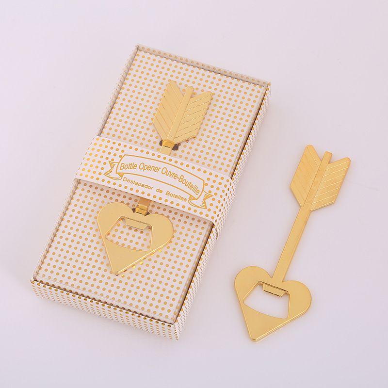 Стрелка Золотой открывалка для бутылок свадебные сувениры свадебный душ партия выступает за событие сувениры на память подарки на День Рождения Юбилей поставки