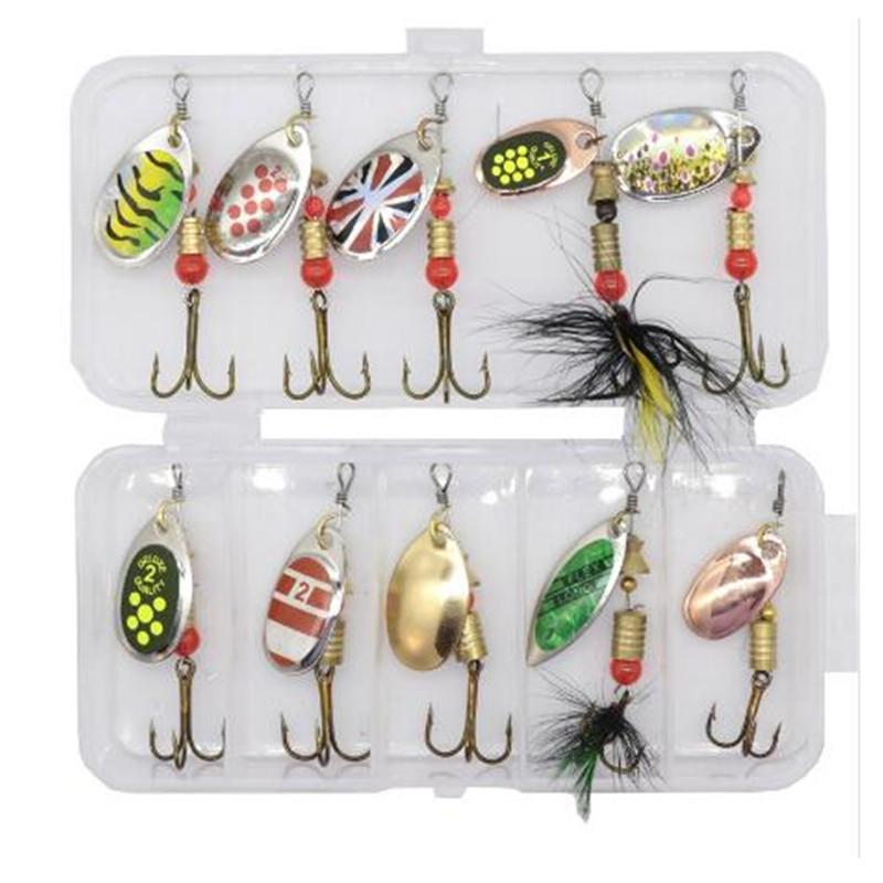 Spinner Fishing Lure Metal Spoon Lure hard bait fishing tackle Atificial 4.5g EF