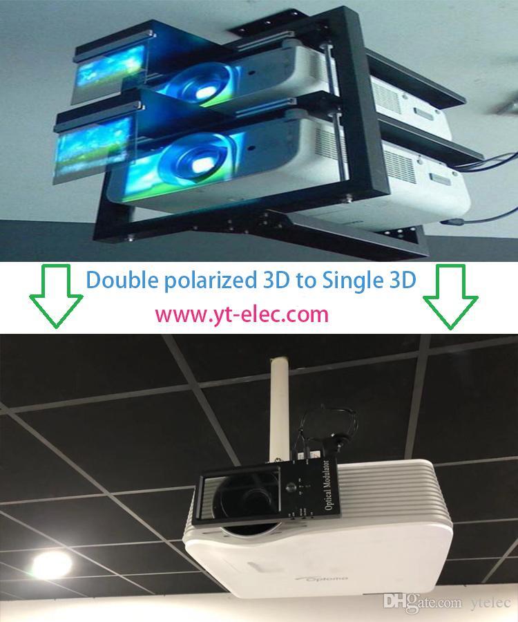 Modulador de polarização 3D para home theater com cinema RealD polarizador circular passivo 3D óculos para todos os DLP 3D projetor made in china