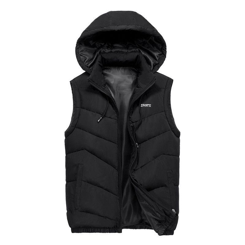 New Autumn Winter Sleeveless Jacket for Men Fashion Warm Hooded Male Slim Fit Light Vest Mens Work Vests Waistcoat