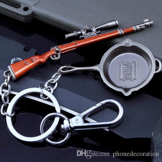 Jeu Champs de bataille de PUBG Playerunknown Gun Modèle Porte-clés Mini Cosplay Porte-clés Porte-clés Bijoux de mode Drop Shipping Nouveau Cool