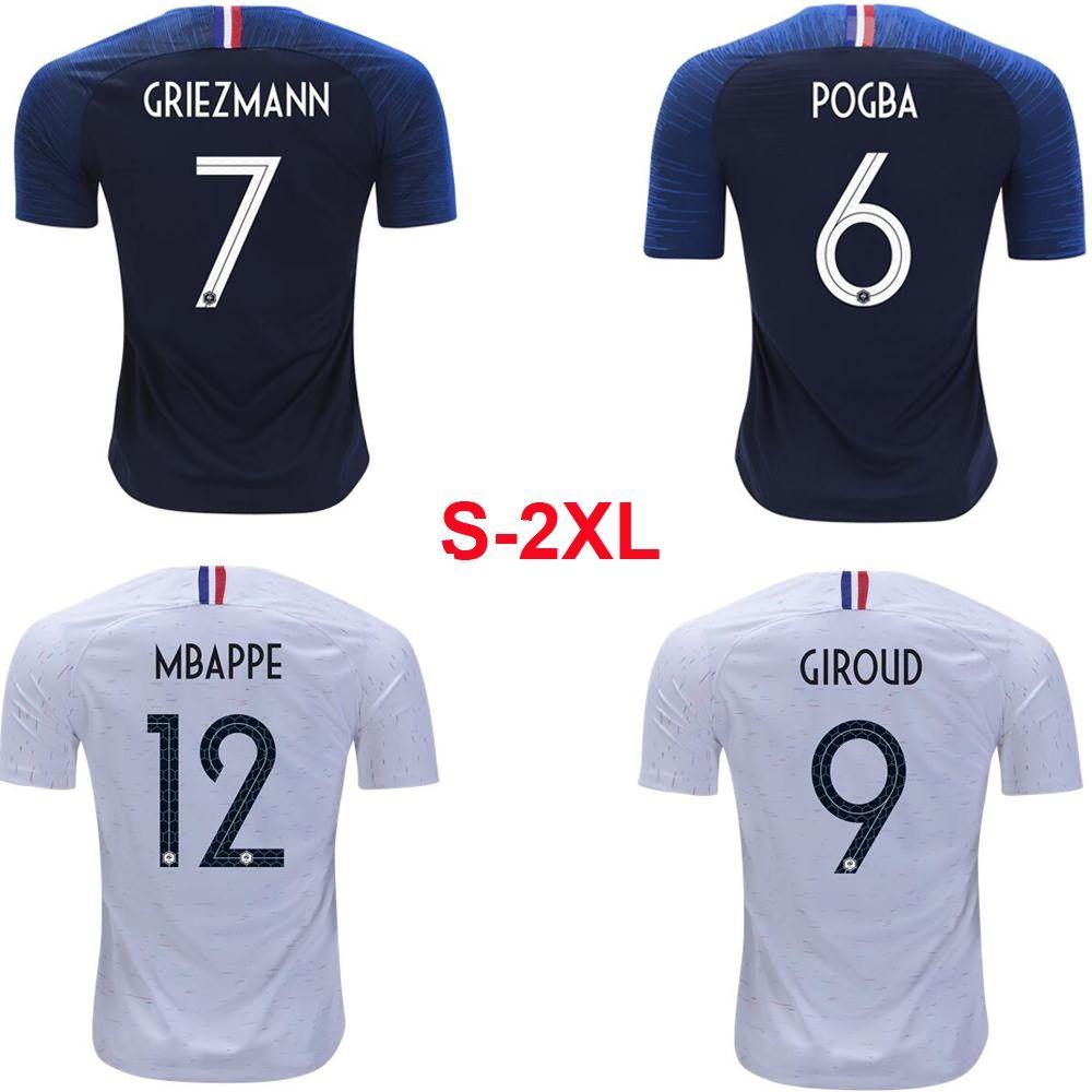 buy popular 7cdec 52c5b 2018 2018 France National Team Home Away Jersey World Cup Mbappe Griezmann  Football Uniform Szie S 2xl ! From Nikki_lee, $13.97 | Dhgate.Com