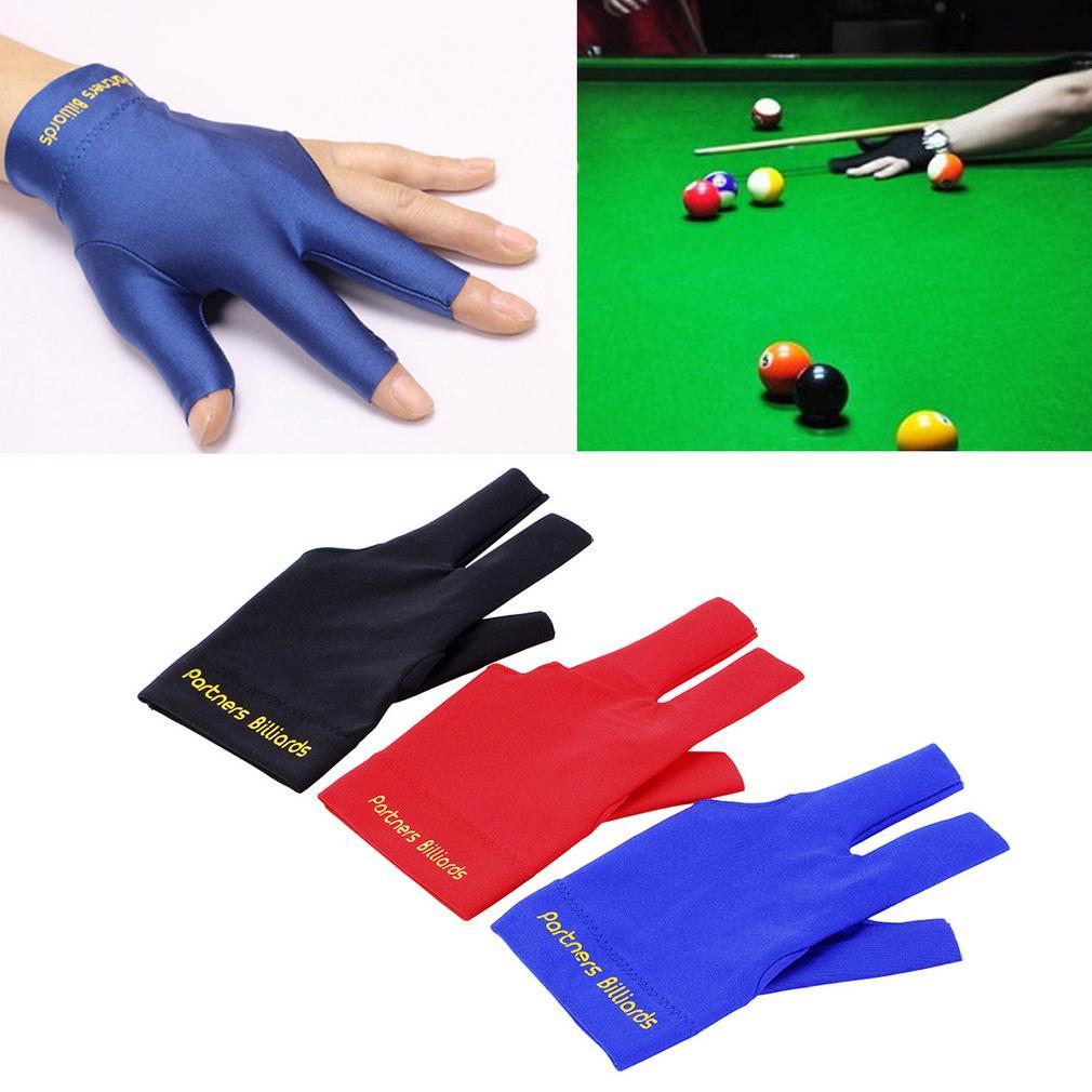 Grey Spandex Snooker Billiard Glove Pool Left Hand Open Three Fin SP