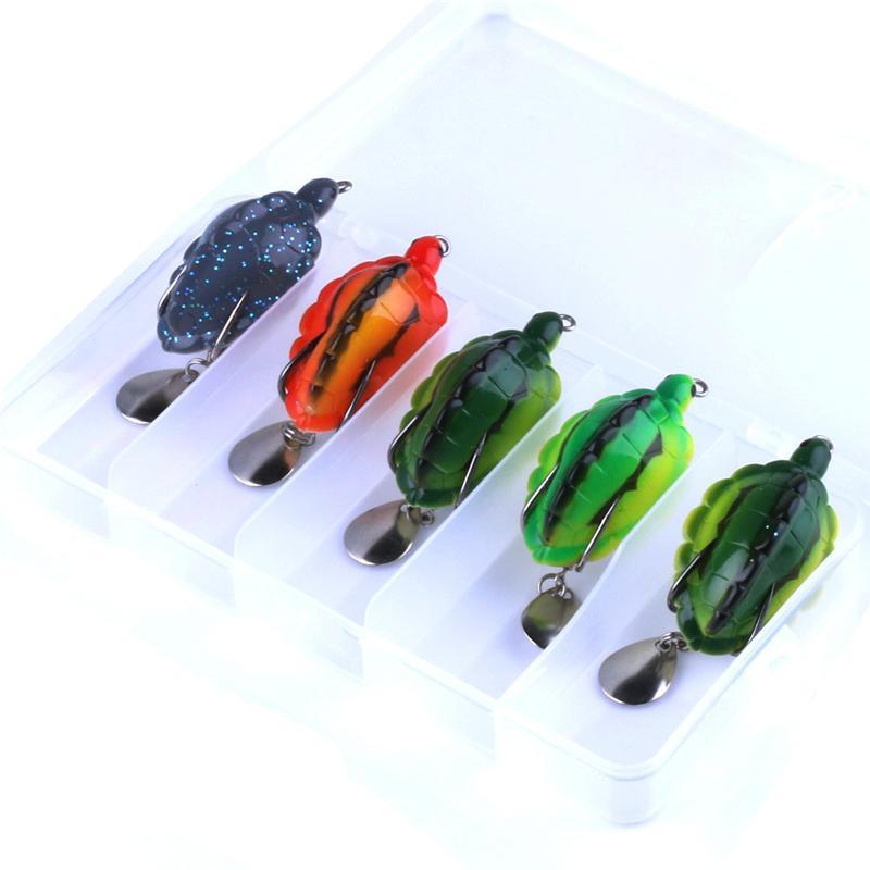 New Lifelike Tortoise designer Spinner Fishing lure 55mm 13.4g 3D Plastic Turtle bait Box package 5pc/box
