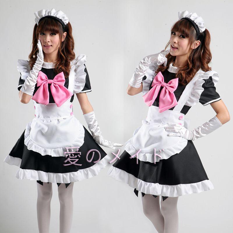 Restaurant Femme de ménage COSPLAY Costume Anime Femme Fille de café Livraison gratuite