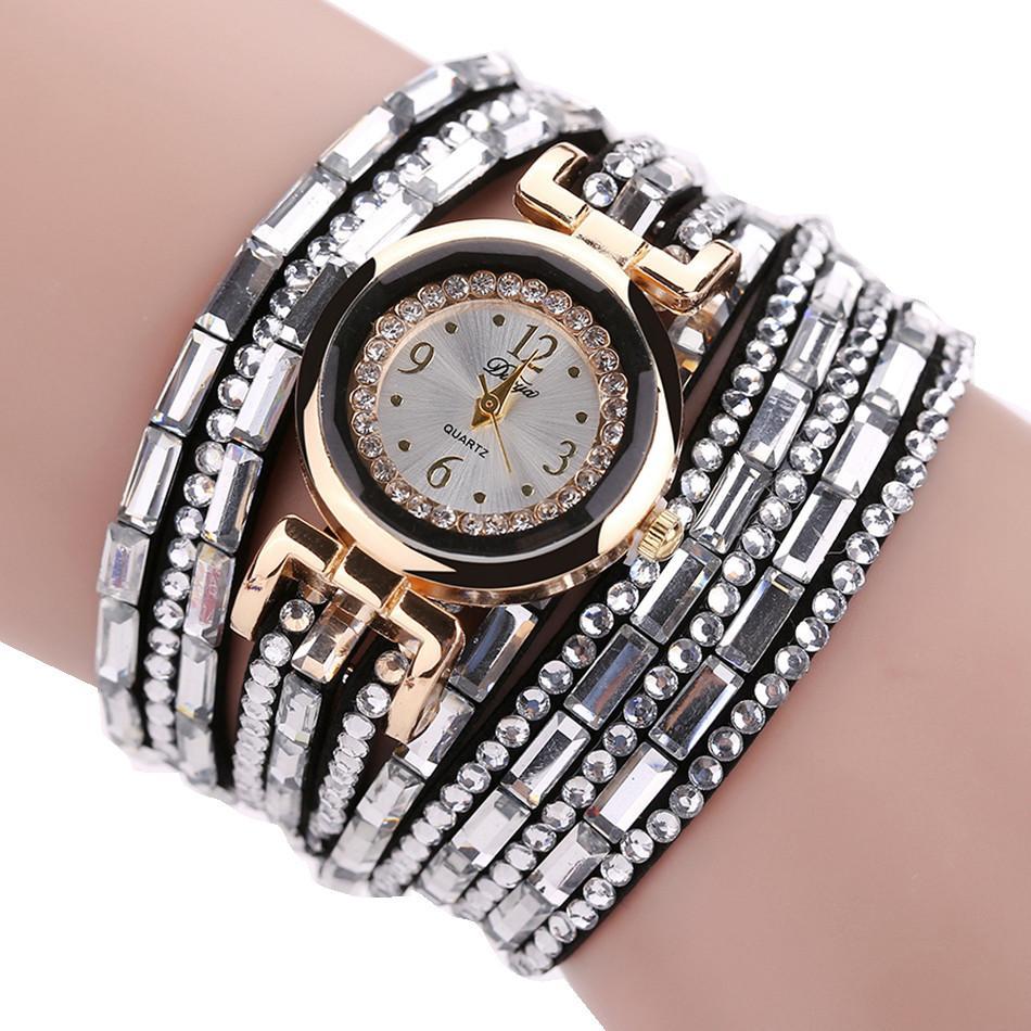 Compre Las Mejores Marcas De Relojes De Pulsera Para Mujer Reloj De Lujo Para Mujer Vestido De Perla Escala Cristal Diamante Cuarzo Reloj De Pulsera Reloj Relogio Ff A 29 92 Del