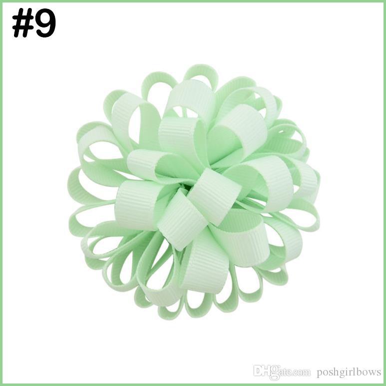free shipping 300pcs ball loopy hair bows girl hair pony baby infant hair bows