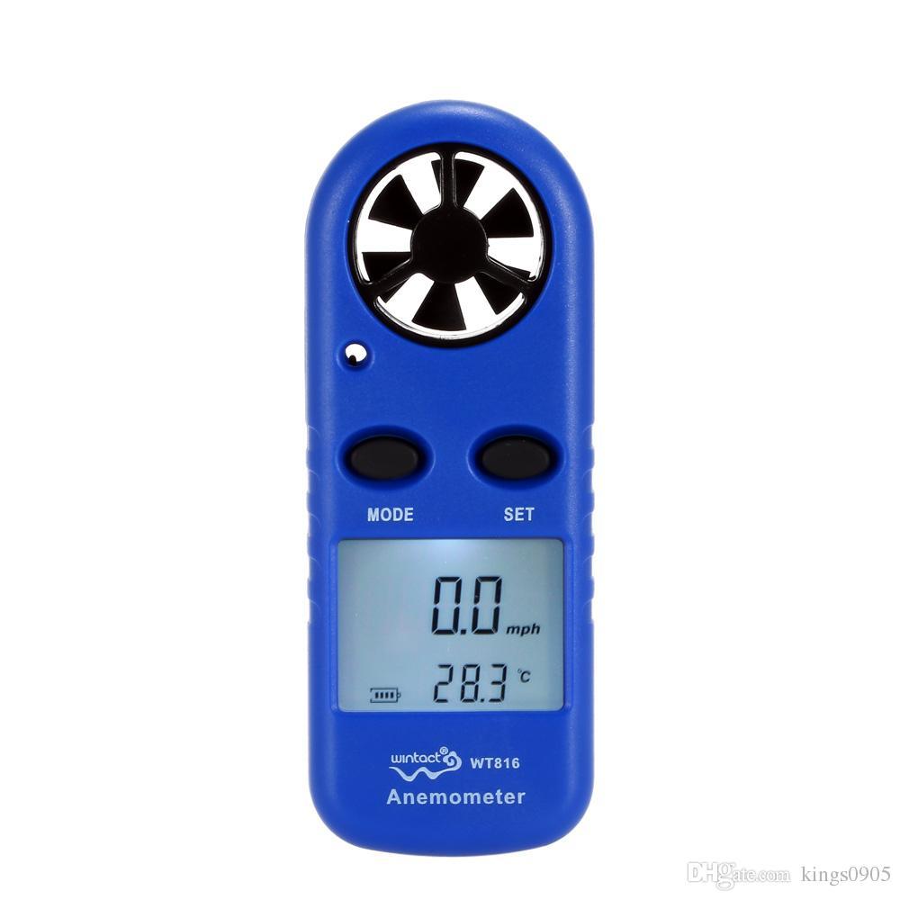 LCD Mini Anemometer Multifunctional rpm tachometer Wind Speed Air Velocity Temperature meter Measurement Beaufort Scale Display