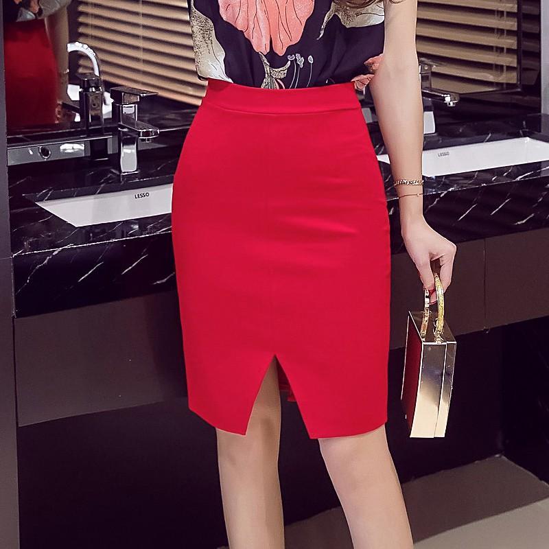 83af846bb6 Women Pencil Skirts 2018 Fashion Winter Elastic Elegant Sexy High Waist  Skirt Slim Office Lady Formal