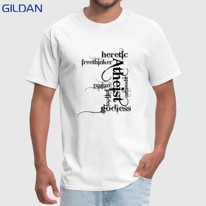 Compre Patrón De 2018 Camiseta De Verano Para Hombres Athist ...