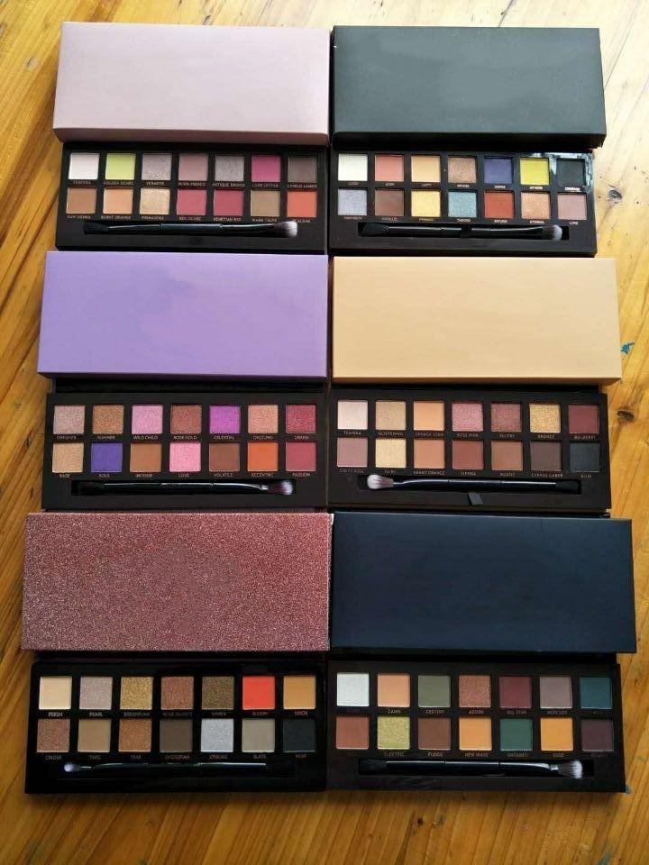 Qualität! Marke Make-up Lidschatten-Palette 14colors begrenzt Lidschatten-Palette mit Pinsel Lidschatten-Palette freies Verschiffen