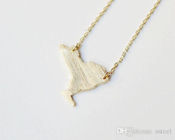 30pcs USA map New York State charm pendant Necklaces NY State Map Necklaces America USA State Map Necklaces for Hometown Gifts jewelry