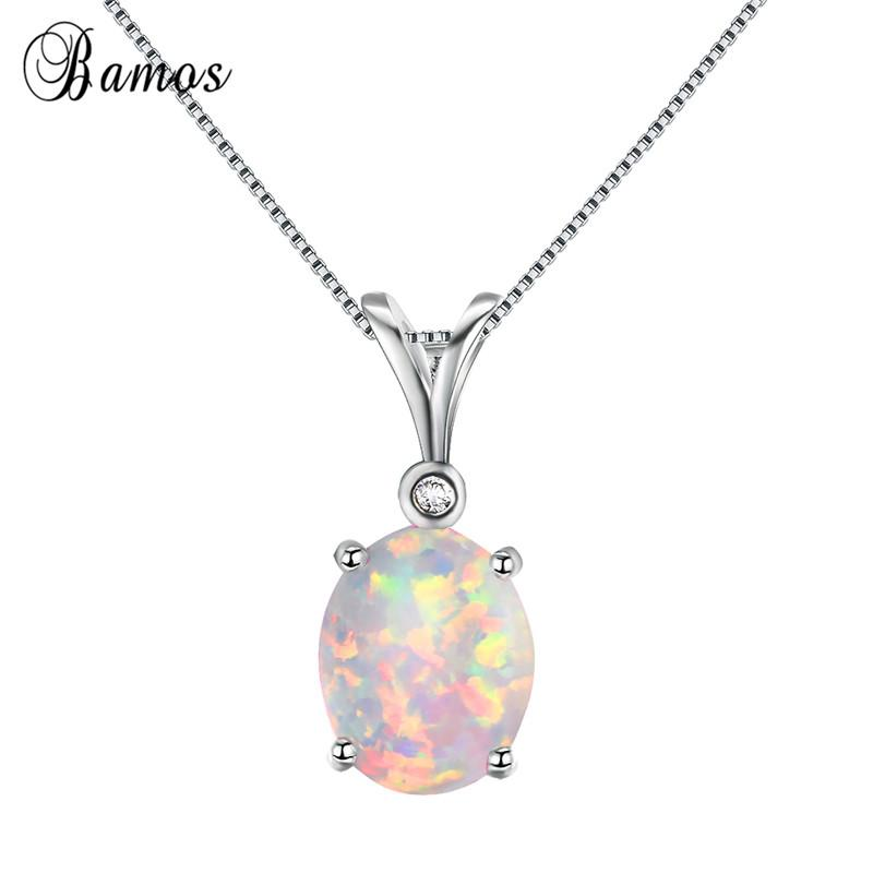 Fashion 925 Silver Jewelry Drop Blue Fire Opal Charm Pendant Necklace Chain !!