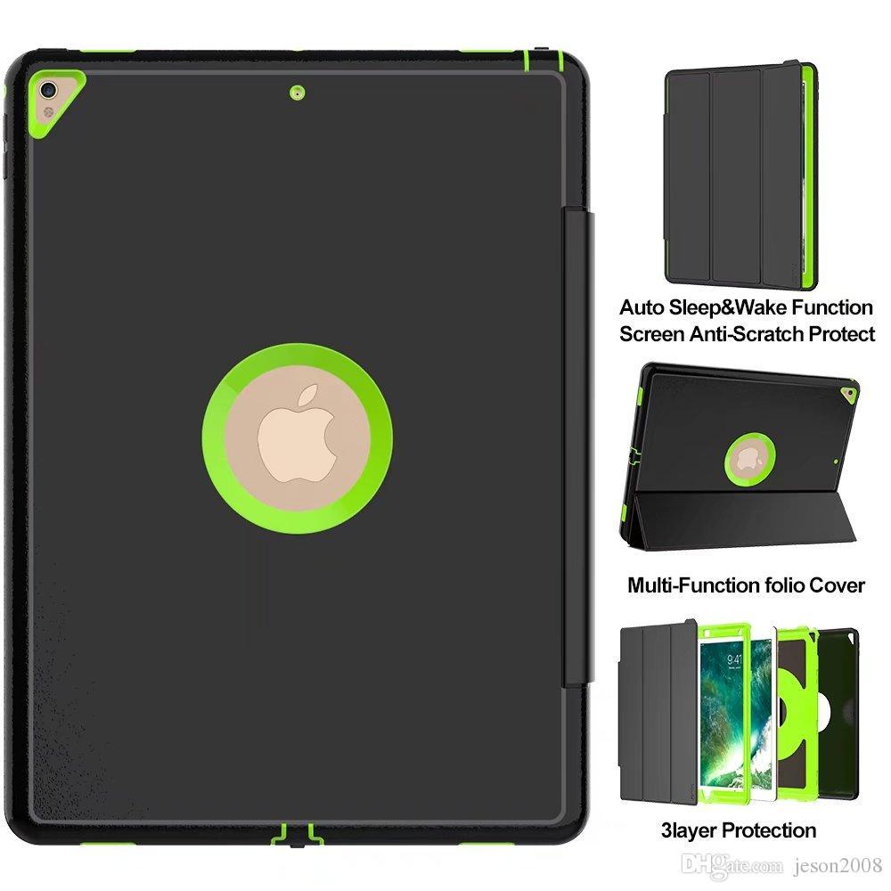 Defender Case para iPad mini 1 2 3 4 Air 2 Pro 9.7 10.5 12.9 2017 2018 Robot a prueba de golpes Funda militar Extreme Heavy Duty Funda de silicona
