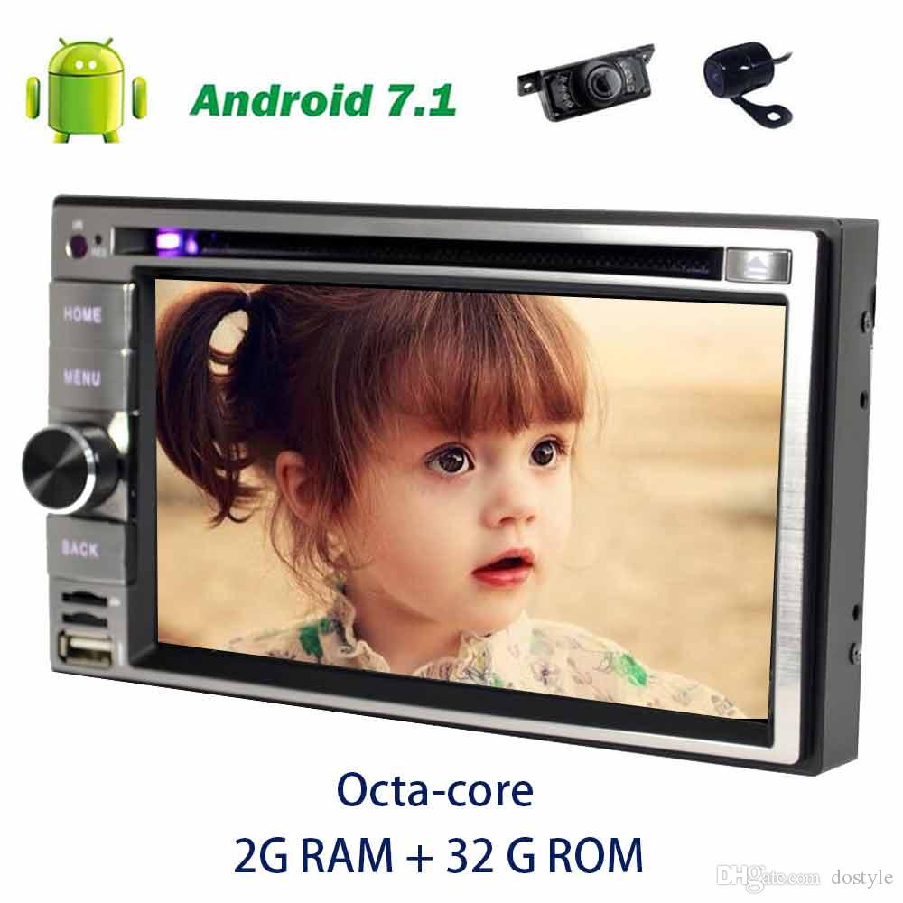 6.2'' Android 7.1 Octa-core Double din GPS Stereo Car Radio in Dash Car dvd Player support OBD2,DAB+,TV,DVR+Front&backup came