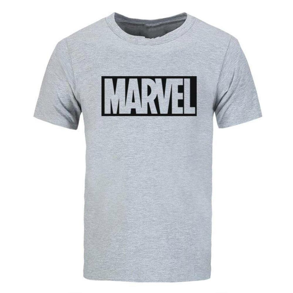 Marvel Logo T-Shirt Comic Book Superhero Clothing For Men and Women Men Cotton T-Shirt Printed T Shirt top tee The New