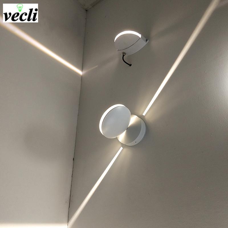 Lampada da parete a led impermeabile 8w da esterno, applique da parete a LED per montaggio superficiale Lampada da parete corridoio Illuminazione decorativa 85-265V