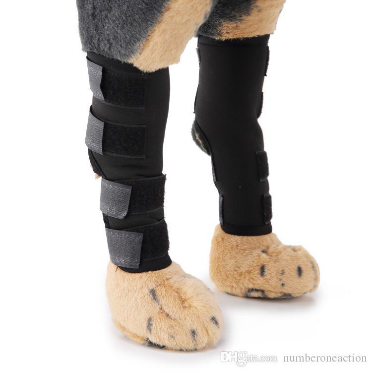 الكلب الخلفي الساق الحمالات الكلاب الأشرطة هند هوك المشتركة السلامة عاكس الأشرطة للإصابة والإلتواء حماية الجرح شفاء التهاب المفاصل (زوج)