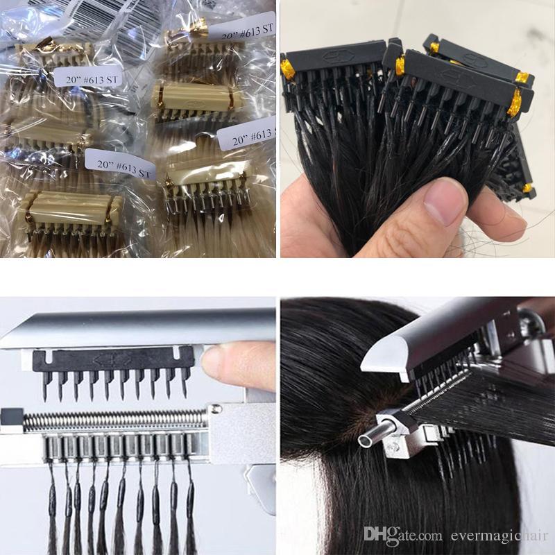 6D عذراء الشعر شقراء 613 أو اللون الطبيعي 14 بوصة إلى 26 بوصة 10A البرازيلي الشعر البشري وصول جديد