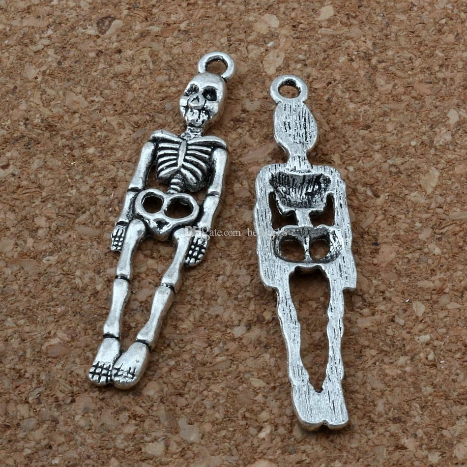 30 stk Antiqued Silber Metall Halloween Hut Charms Dangles Anhänger 23x15x3mm